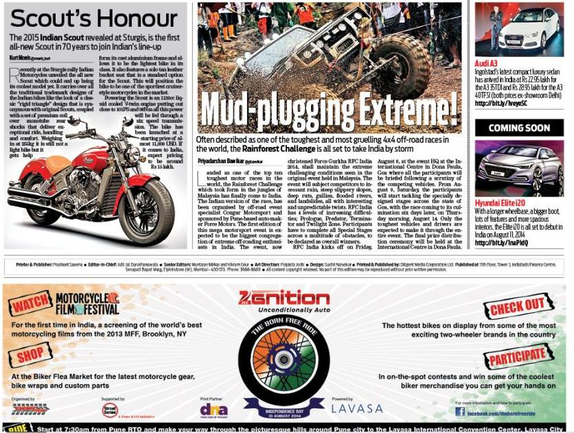 The Born Free Ride in the DNA India EPAPER